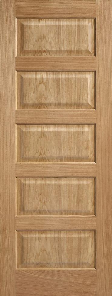 LPD Contemporary 5 Panel Pre finished Oak door