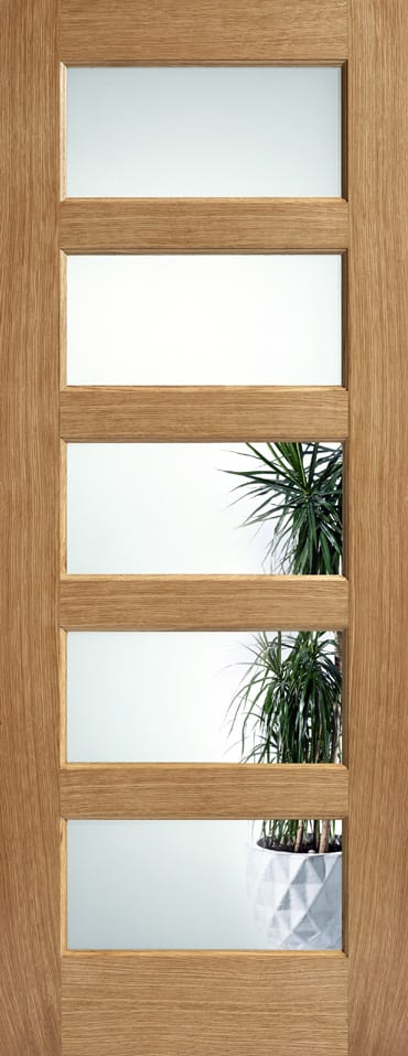 LPD Contemporary 5 light clear glazed door