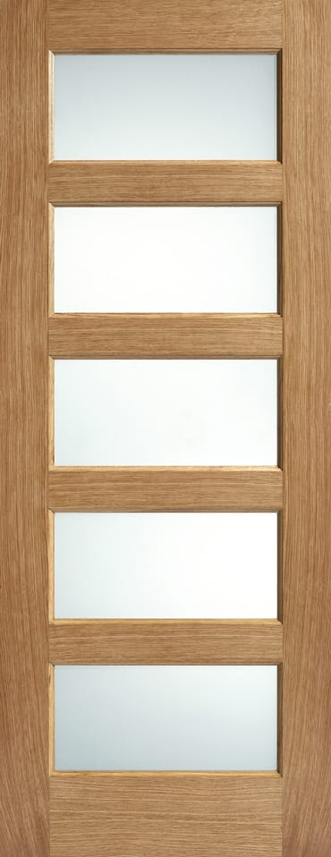 LPD Contemporary 5 light frosted glazed door