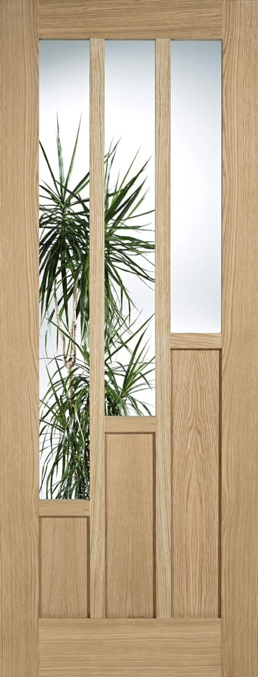 LPD Coventry Clear Glazed Oak door