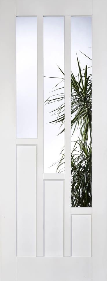 LPD Coventry glazed white primed door