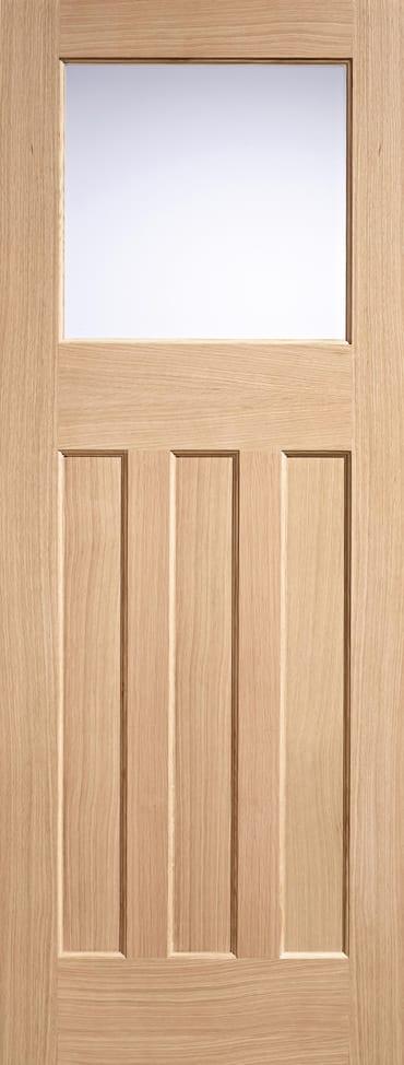 LPD DX 30's Style Oak glazed door unfinished