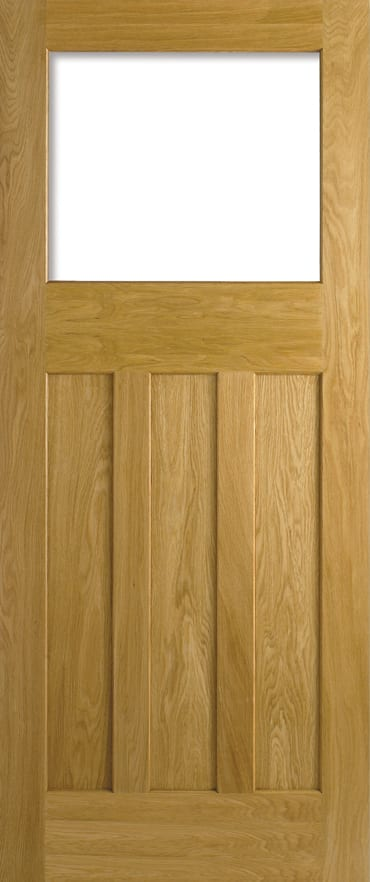 LPD DX 30's Style unglazed oak door unfinished