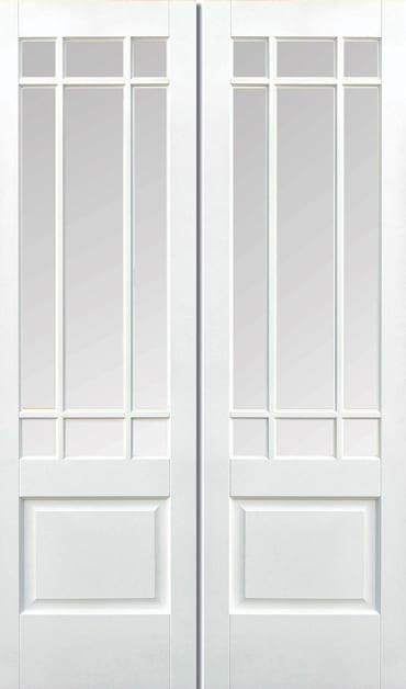 LPD Downham Pair white primed doors