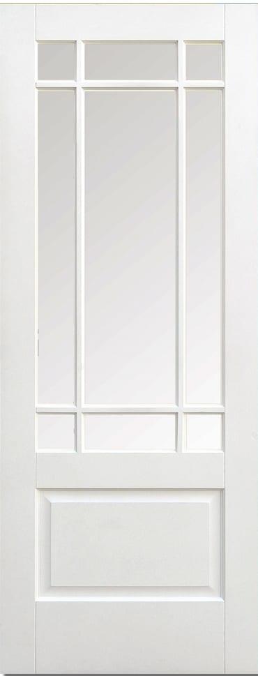 LPD Downham glazed white primed door