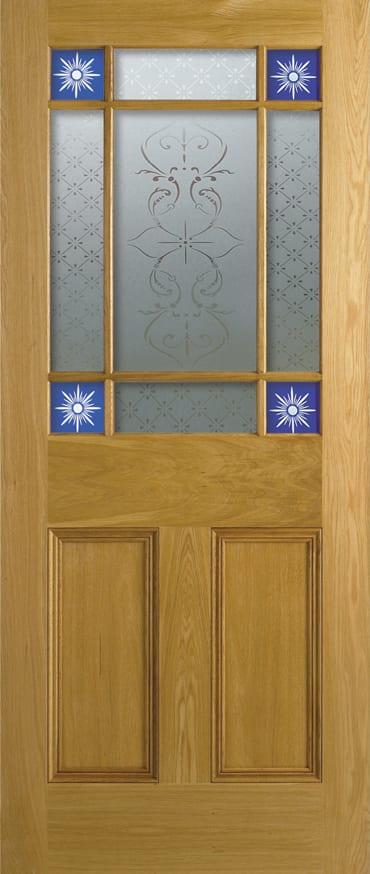 LPD Downham oak door with glazing