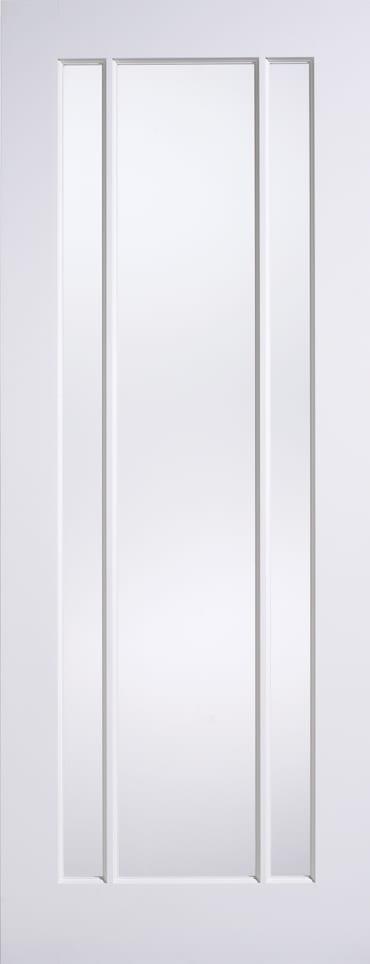 LPD Lincoln Glazed white primed door