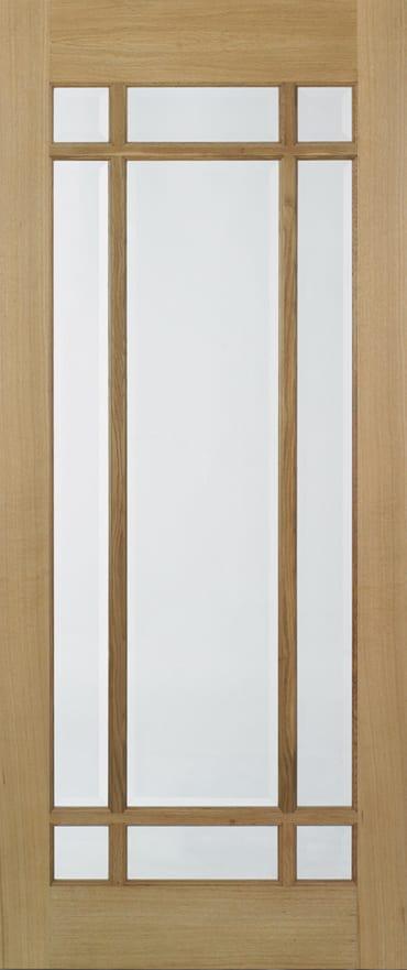LPD Lyon Oak glazed door