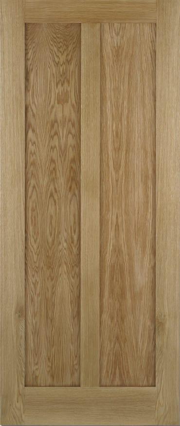 LPD Maine unfinished oak door