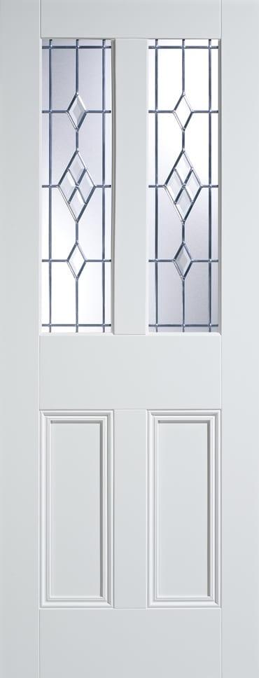 LPD Malton ABE Leaded glazed white primed door