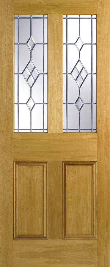 LPD Malton Oak ABE Leaded glazed door
