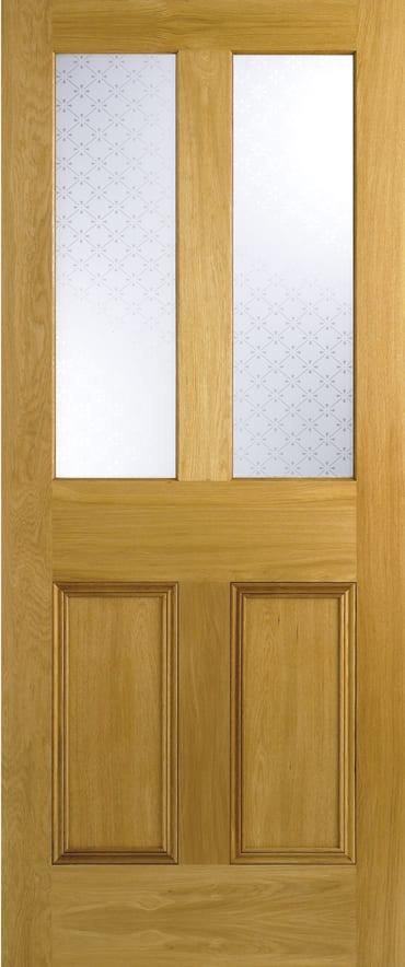 LPD Malton Screenprint glazed oak door