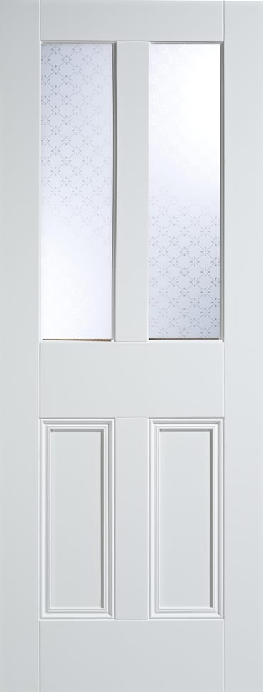 LPD Malton screenprint white primed door