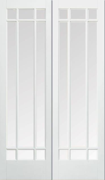 LPD Manahttan Pair white primed doors