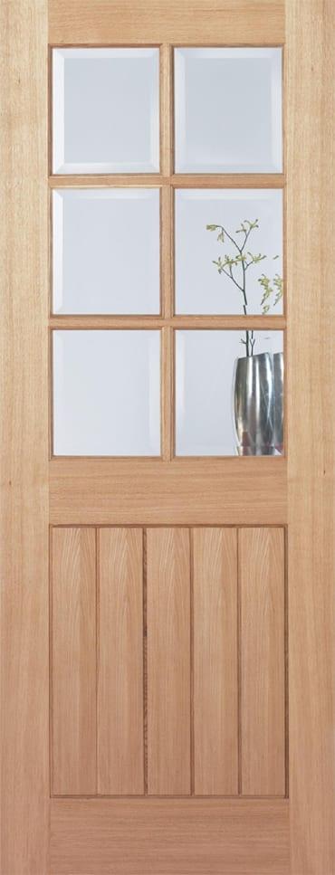 LPD Mexicano Oak glazed door