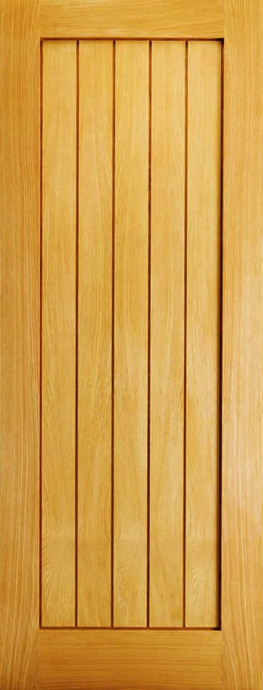 LPD Mexicano Slimline unfinished oak door