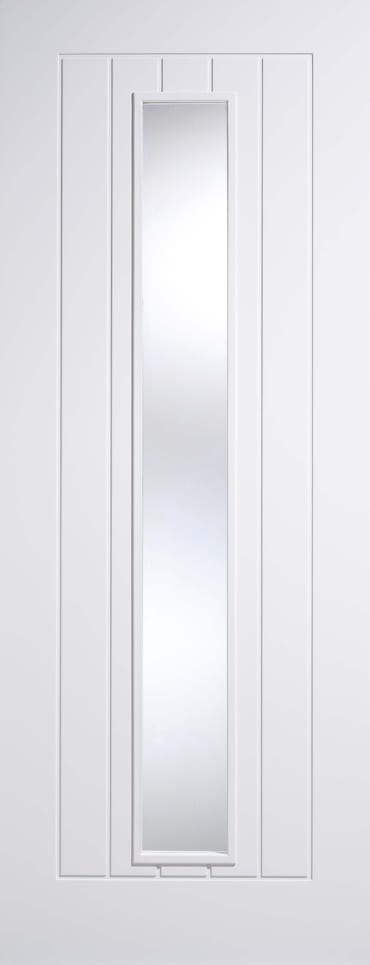 LPD Mexicano glazed white primed door