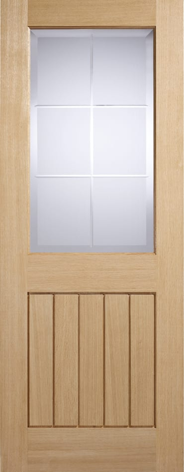 LPD Mexicano valencia Oak glazed door
