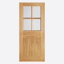 LPD Oak Cottage Stable 4 Light Door