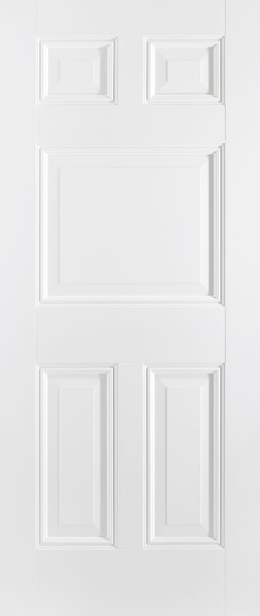 LPD Paris 5 panel white primed door