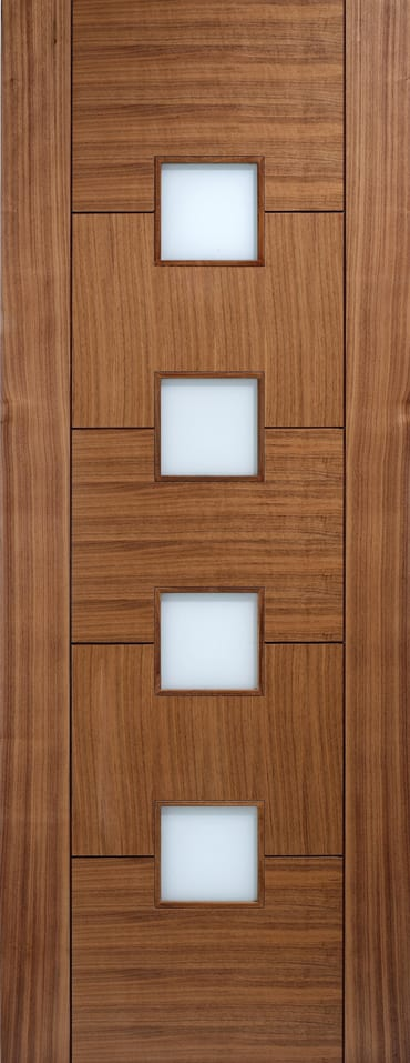 LPD Quebec Walnut glazed door