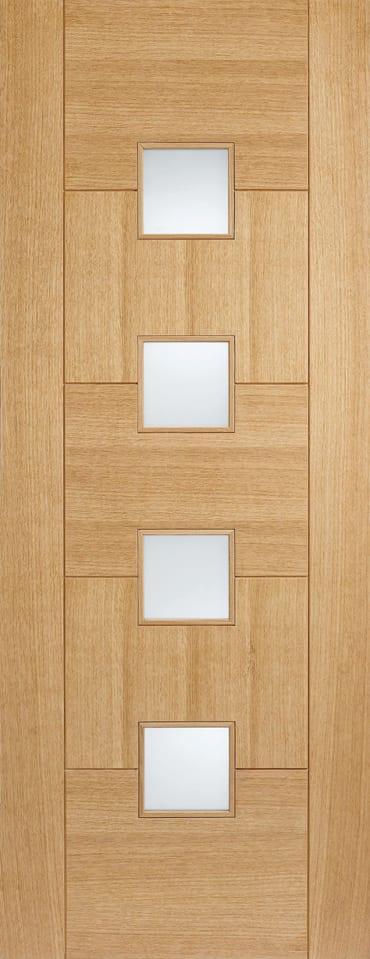 LPD Quebec glazed oak door