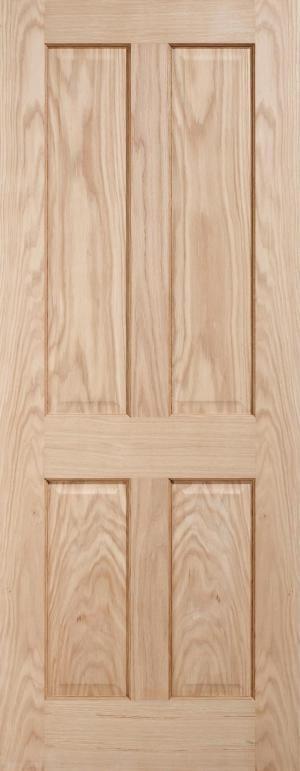 LPD Regency 4 panel unfinished oak door
