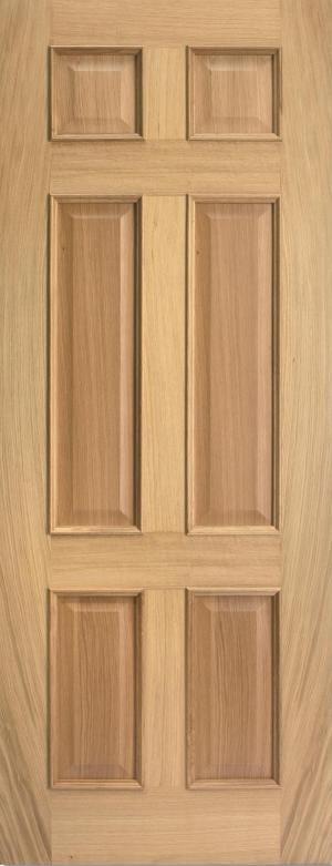 LPD Regency 6 Panel RM2S Oak unfinished door