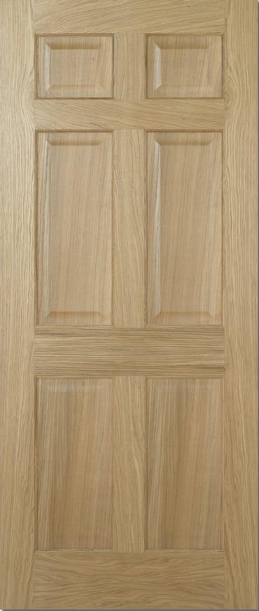 LPD Regency 6 Panel pre finished oak door
