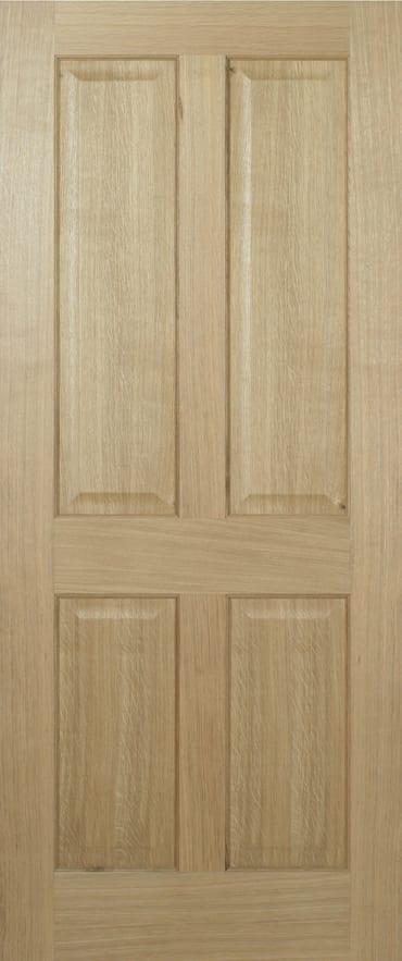 LPD Regency Oak 4 panel finished door