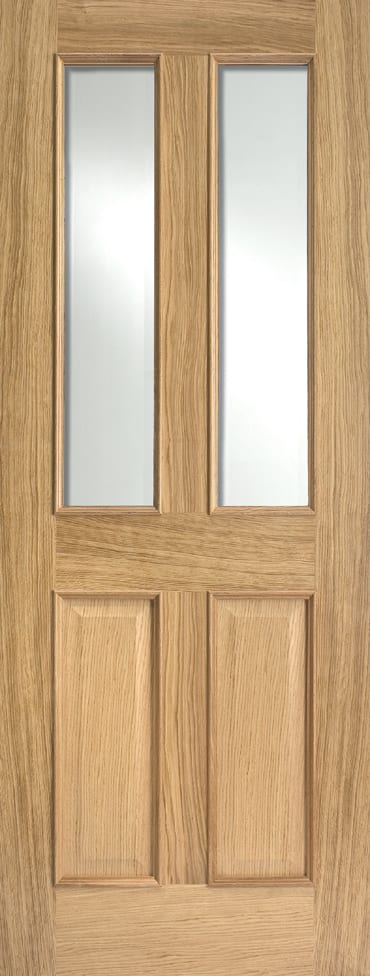 LPD Richmond RM2S Glazed oak door unfinished