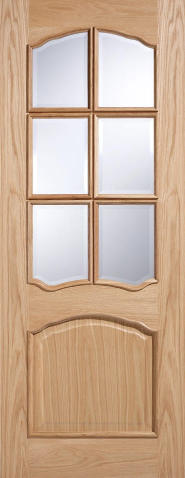 LPD Riviera RM2S Glazed oak door unfinished