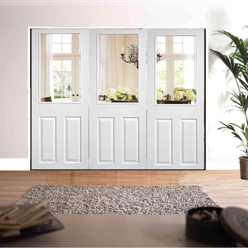 LPD Roomfold 2 Panel 1 Light Textured doors