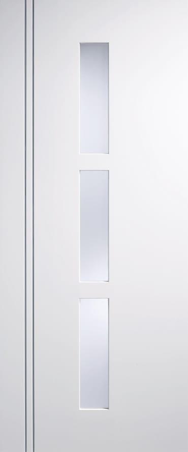 LPD Sierra Blanco white glazed door