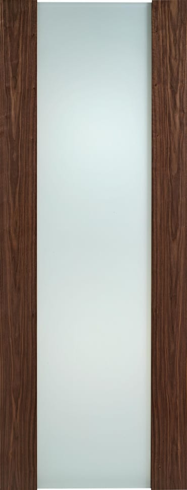 LPD Toronto walnut frosted glazed door