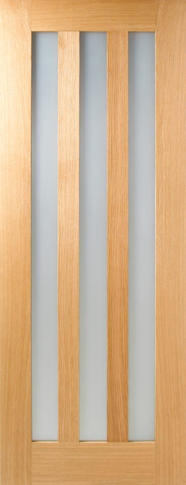 LPD Utah Oak frosted glazed door