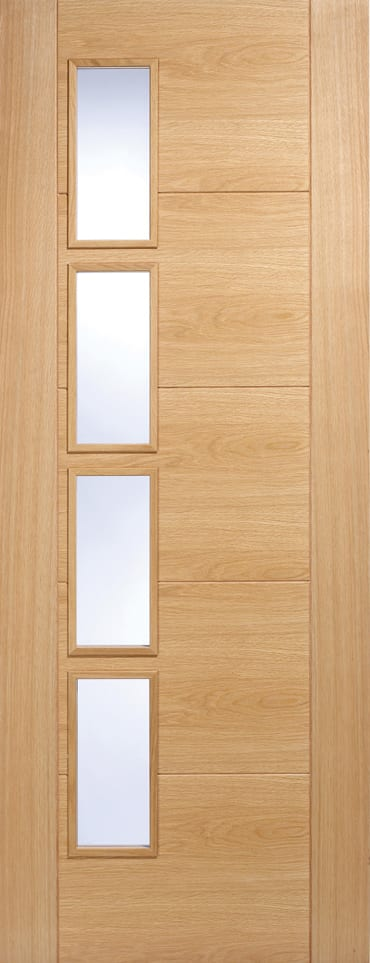 LPD Vancouver 4L offset Oak door