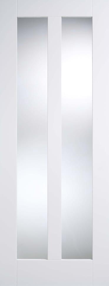 LPD Vermont Glazed white primed door