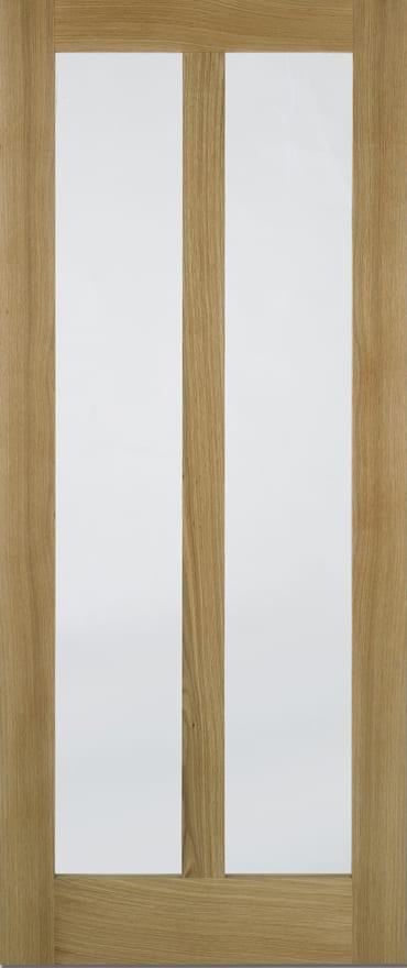 LPD Vermont Oak door clear glazed