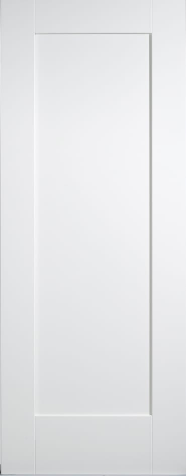 LPD White primed 1 panel Shaker door