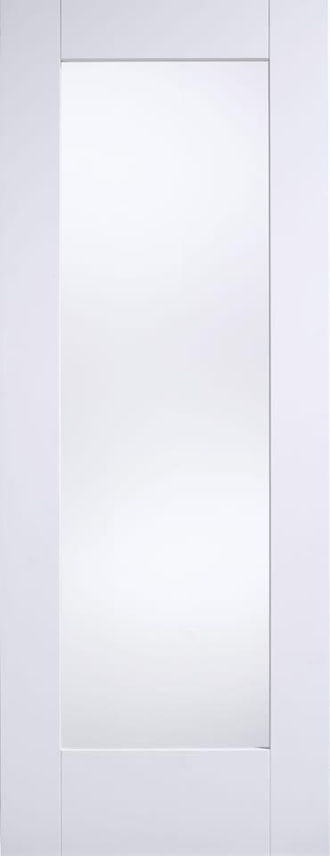 LPD White primed Shaker glazed door