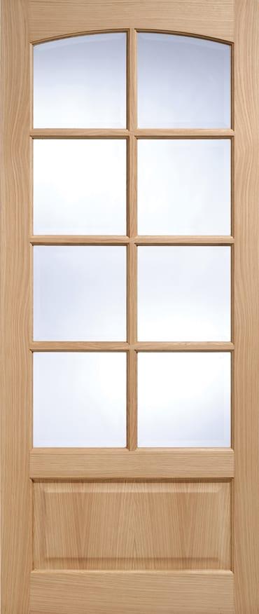 LPD Worthing 8 Light glazed Oak door