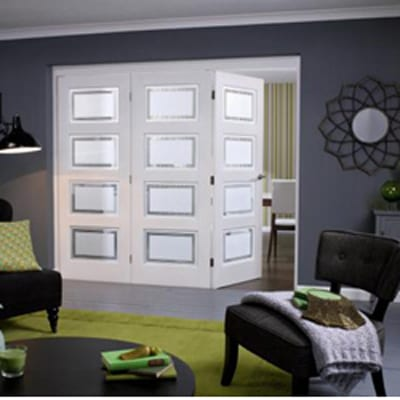 LPd Roomfold Comtemporary frosted glazing doors