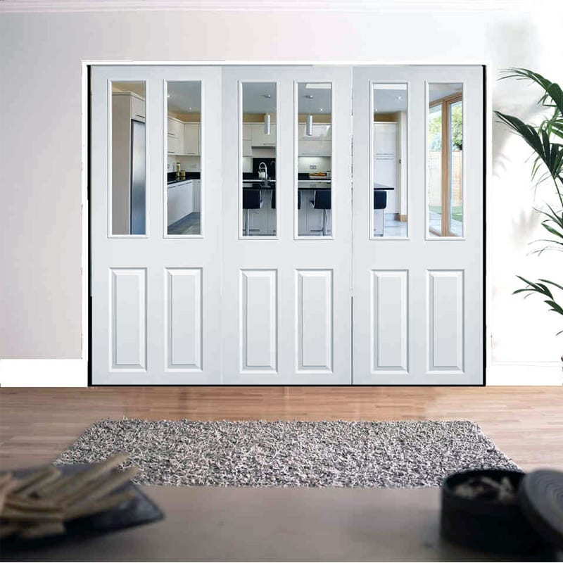 Lpd Roomfold 2 Panel 2 Light textured doors