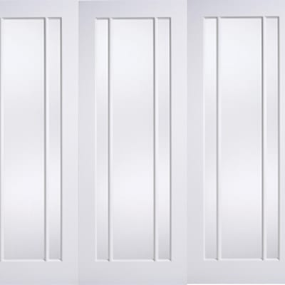 Lpd Roomfold Lincoln White clear glazed doors