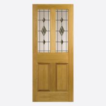 Oak Malton Smoked ABE Leaded Glazed Un-finished Door