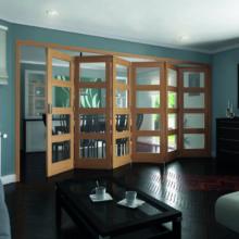 Roomfold 4 Light Clear glazed Oak Shaker Doors