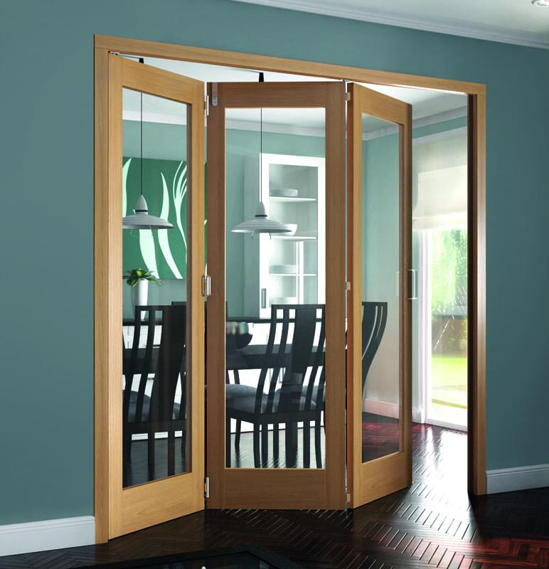 Roomfold Shaker Oak 1 Light doors