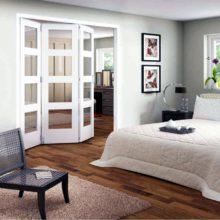 Shaker 4 Light clear glazed roomfold doors