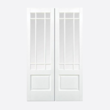 White Downham Glazed 9L Door Pair